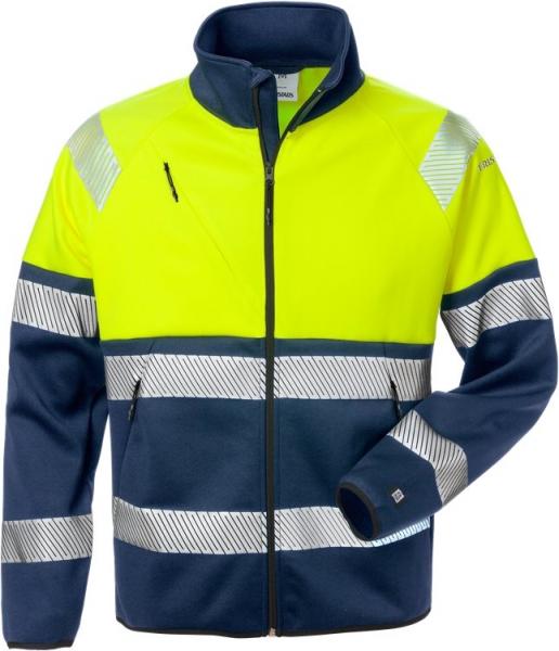 High vis kevyt stretch takki lk 1 4517 SSL keltainen/sininen