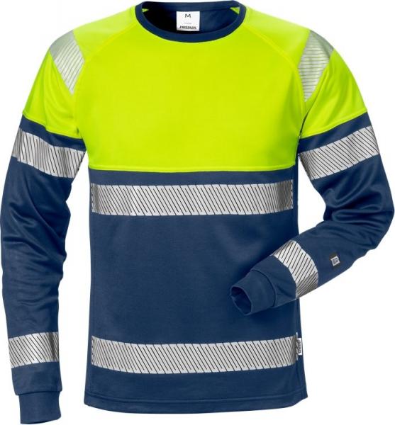 High vis pitkähihainen t-paita lk 2 7519 THV sininen/neonkeltainen