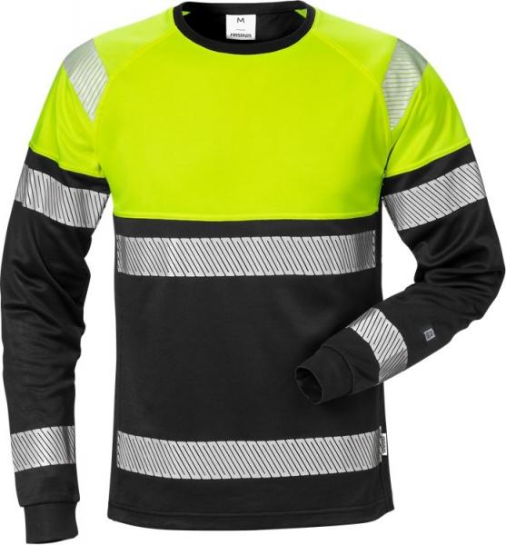 High vis pitkähihainen t-paita lk 2 7519 THV musta/neonkeltainen