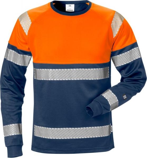 High vis pitkähihainen t-paita lk 2 7519 THV  sininen/oranssi