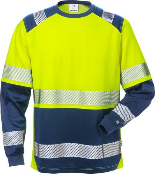 High vis pitkähihainen t-paita lk 2 7457 THV sininen/neonkeltainen