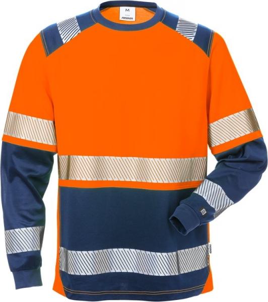 High vis pitkähihainen t-paita lk 2 7457 THV oranssi/sininen