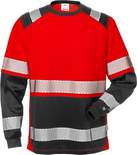 High vis pitkähihainen t-paita lk 2 7457 THV punainen/musta