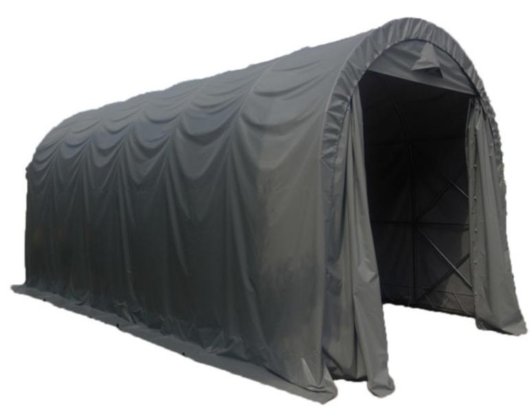 Prohall 3 x 6x2,7m 500g harmaa kaaritalli (caravan talli)