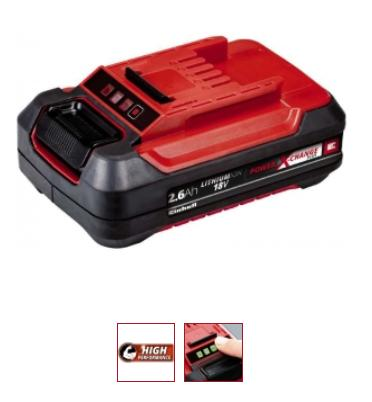 Akku Einhell Power X-Change 18 V 2,6 Ah Plus