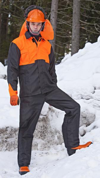 Metsurin suojavaatteet+kypärä