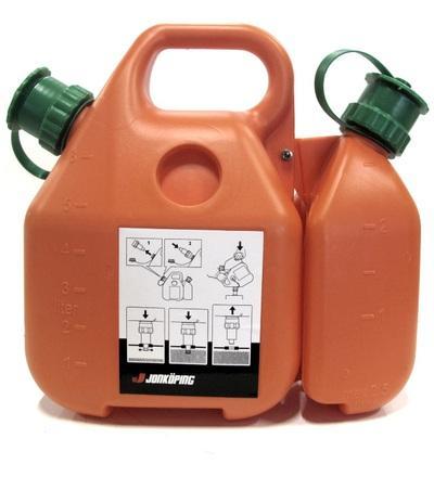 Jonköping 6 + 2,5 l bensakannu / öljykannu
