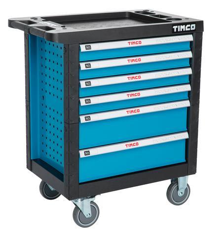 Timco 6ltk 220-osainen työkaluvaunu työkaluilla