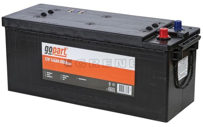 Käynnistysakku, GoPart, 12V, 145 Ah, 850A