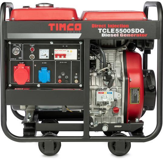 Timco TCLE5500SDG 400V diesel generaattori