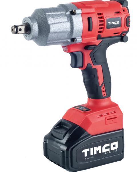 Timco 20V 4Ah 500Nm mutterinväännin ja hylsyt