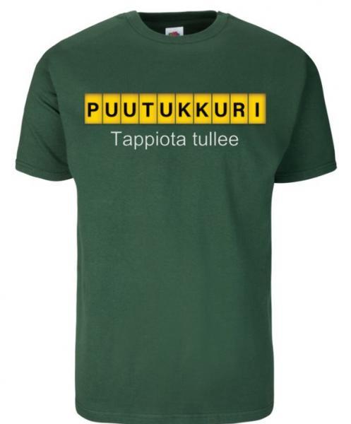 Puutukkuri T-Paita, vihreä (Tappiota tullee)