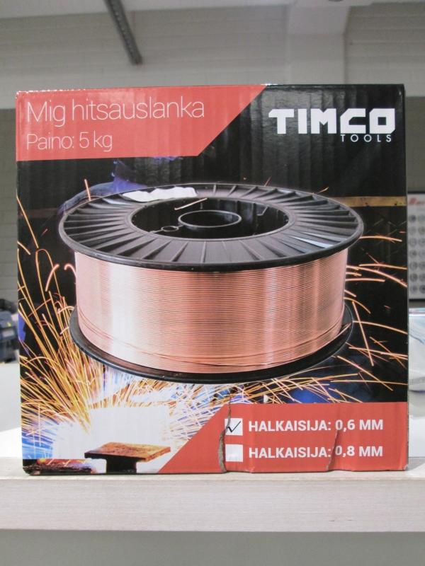 Timco Mig hitsauslanka 0.6 mm 5 kg