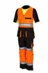 Huomiovärinen riipputasku avohaalari oranssi/musta EN 20471 Lk.1 - 4041