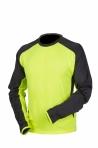Huomiovärinen pitkähihainen t-paita kelta/musta - 4088