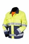 Huomiovärinen palosuojattu kelta/sininen pusero EN 471, EN 1149-5, EN 11612 - 4093