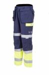 Huomioväriset palosuojatut vyötäröhousut kelta/sininen EN 471 Lk.1, EN 1149-5, EN 11611 - 4094
