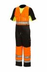 Huomiovärinen talviavohaalari oranssi/musta EN 20471 Lk.1 - 4123