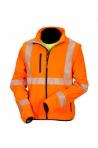Huomiovärinen softshell pusero oranssi EN 20471 lk.2 - 4145