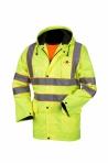 Huomiovärinen sadeasusetti keltainen EN 471 Lk. 3/1 - 4306