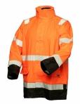 Huomiovärinen sadeasusetti oranssi/musta EN 20471/EN 343 - 4309