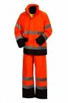 Huomiovärinen sadeasusetti oranssi/musta EN 20471/EN 343 - 4311