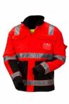 Huomiovärinen talvipusero puna/musta EN 20471 Lk.2 - 4126